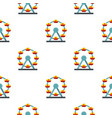 huge ferris wheel canada pattern seamless vector image vector image