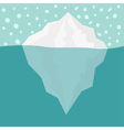 iceberg blue sea ocean water and snowflake winter vector image