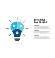 light bulb infographic template for vector image vector image