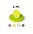 Lime icon in different style vector image vector image