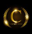 luxury golden letter c for premium brand identity vector image vector image