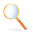 magnification glass orange vector image vector image