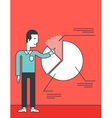 Man presenting business report vector image vector image