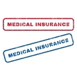 Medical Insurance Rubber Stamps vector image vector image