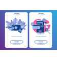 mobile phone payment icon in flat style vector image