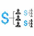 money recipients composition icon tremulant vector image vector image