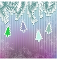 New Years holiday background with tree EPS8 vector image vector image