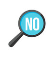 no word magnifying glass vector image
