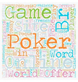 online poker site text background wordcloud vector image vector image