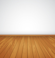 realistic wood floor and white wall vector image vector image