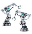 robotic arm set vector image vector image