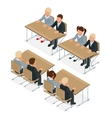 School lesson Little students Isometric vector image vector image