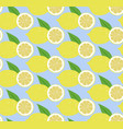 Seamless pattern fruit lemon vector image