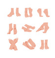 set of beautiful bare woman vector image vector image