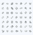 simple set of meat related line icons vector image vector image
