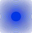 Sound wave rings background Blue and white rings vector image