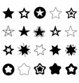 sparkles stars sign symbol icon set hand drawing vector image vector image