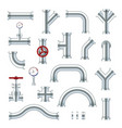 steel pipes industrial set different plumbing vector image