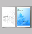 the editable layout of a4 format cover vector image vector image
