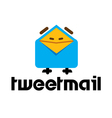 Tweet Mail Design vector image vector image