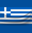 waving national flag of greece vector image