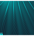 Wavy Grid Background 3d Abstract vector image vector image