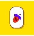 paper sticker on stylish background Strawberry vector image