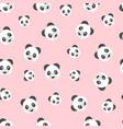 seamless panda bear pattern on pink background vector image