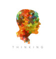 thinking concept vector image