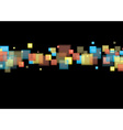 Square rainbow background vector image