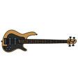 Electric bass guitar vector image