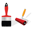 brush and roller vector image