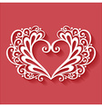 Abstract heart design vector image vector image