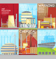 air pollution warning ecological composition vector image vector image