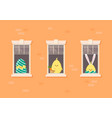 apartment building facade with neighbor easter vector image vector image
