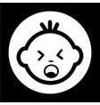 baby face icon vector image