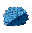 blue flower decoration free spirit bohemian vector image