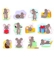 cartoon mouse mousy animal character rodent vector image vector image