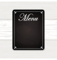 chalk board on white wood vector image vector image