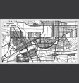 cheyenne usa city map in retro style outline map vector image