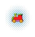 Children locomotive icon comics style vector image