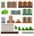 City houses set vector image vector image