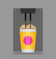 coffee making with paper cup vector image vector image