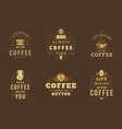coffee quotes vintage typographic style vector image vector image