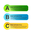 Colorful Option Buttons vector image vector image