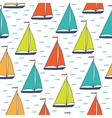 Colorful sailboats seamless pattern vector image vector image