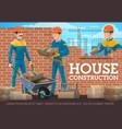 construction mason and foreman banner vector image vector image