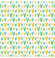 Cute abstract hand drawn hearts seamless pattern vector image