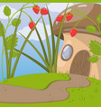cute fairytale mushroom house vector image