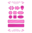 Cute pink game user interface vector image vector image